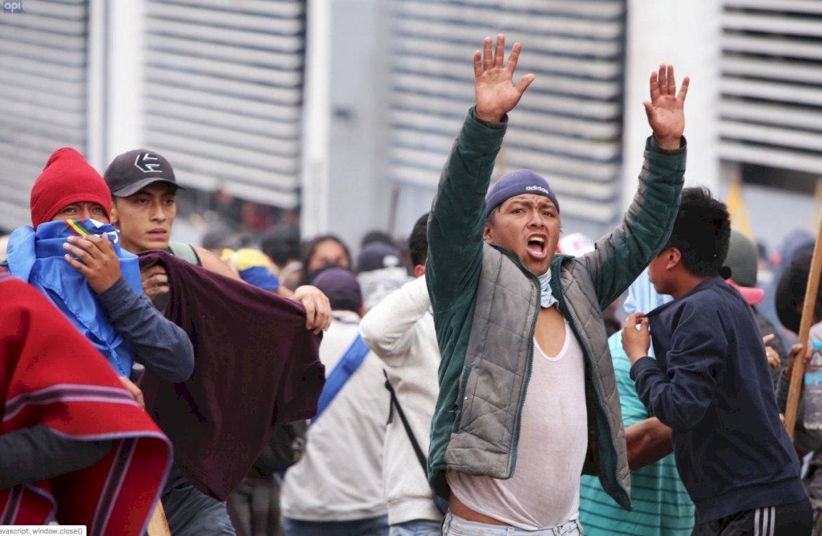 Manifestación indígena