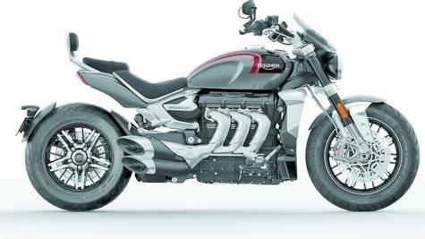 Triumph exhibió una motocicleta poderosa, la Rocket GT3.