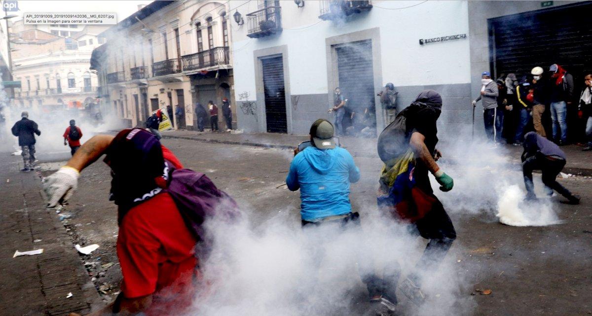 Protestas en Quito API