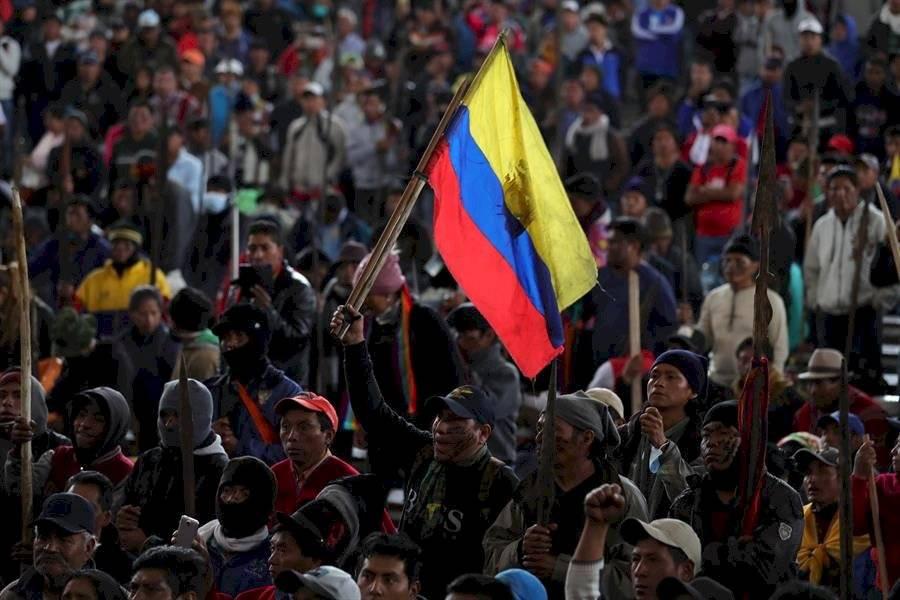 Ecuador está bajo estado de excepción decretado el 3 de octubre por el jefe de Estado para velar por la seguridad y evitar el caos en el país. EFE