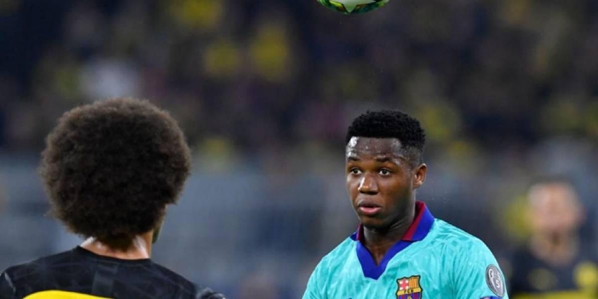 Ansu Fati es convocado a la selección de España Sub 21