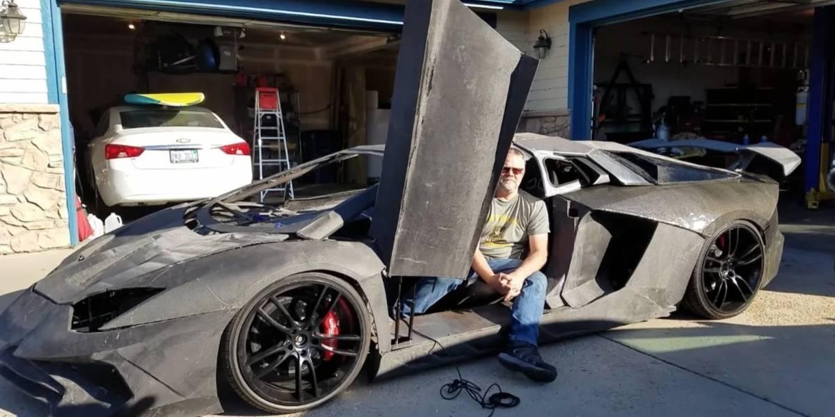Conoce al hombre que imprimió en 3D su propio y funcional Lamborghini