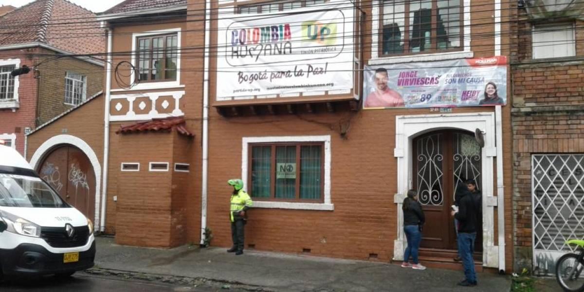 Se registra atentado terrorista contra sede del partido UP