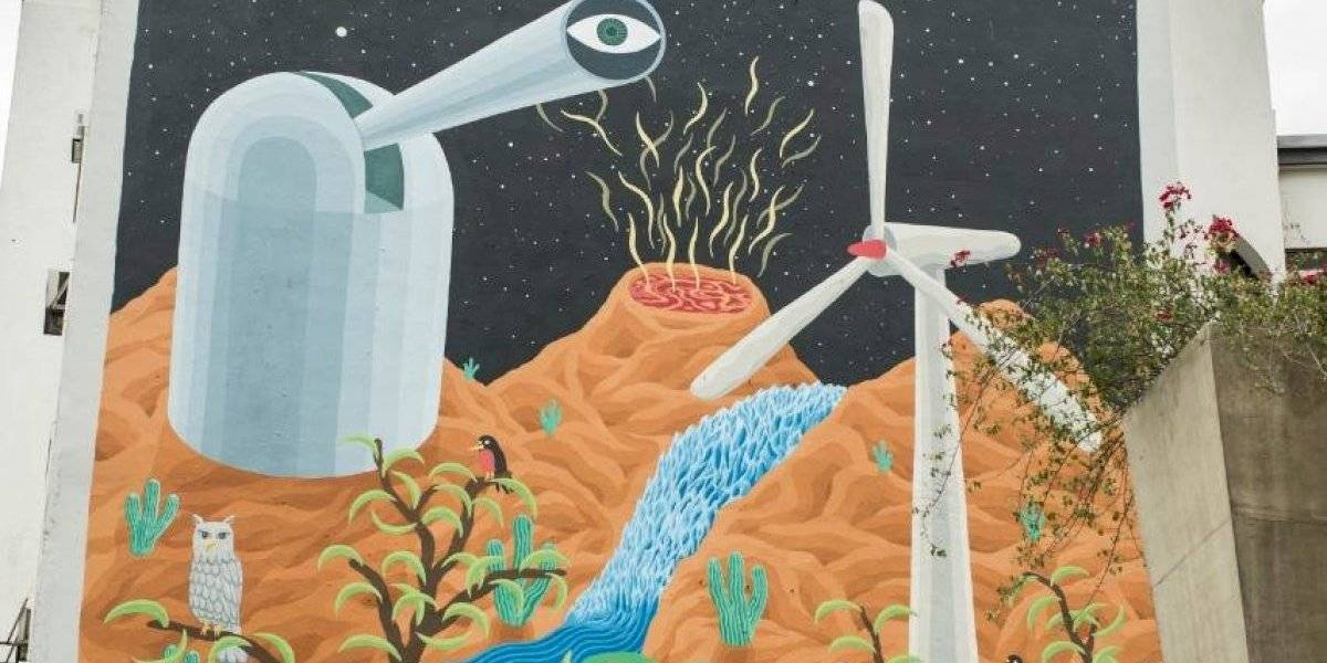 Este es el mural que celebra a la ciencia en la Alameda