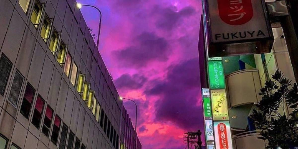 El cielo se volvió rosado antes de su llegada: poderoso tifón Hagibis llega a Japón con fuertes vientos e intensas lluvias