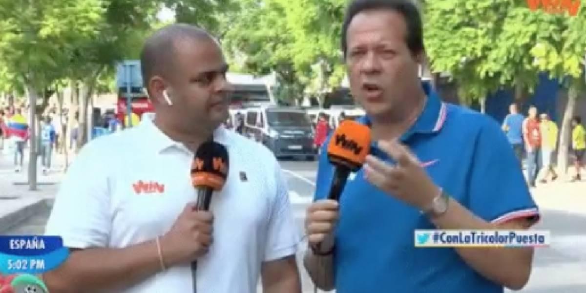 El Cantante del Gol se acordó de Caracol en transmisión con WIN Sports de Colombia VS Chile