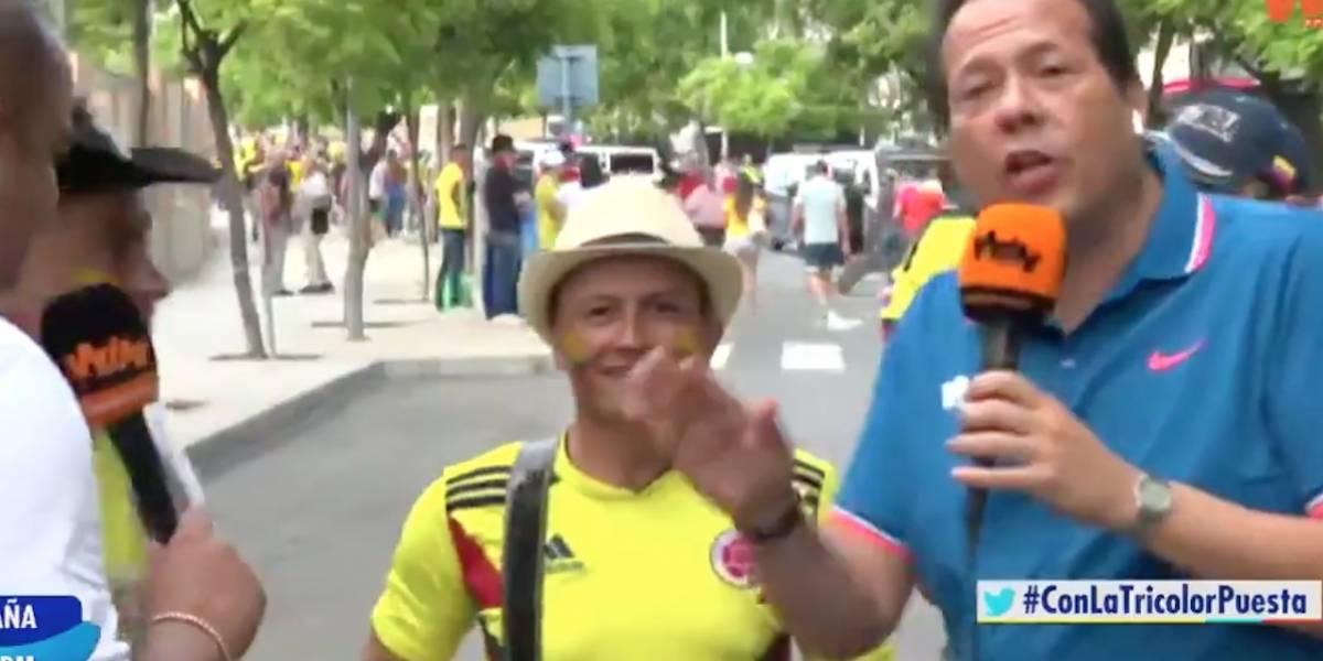 'El desplante' que le hicieron a El Cantante del Gol en medio de la transmisión de Colombia contra Chile