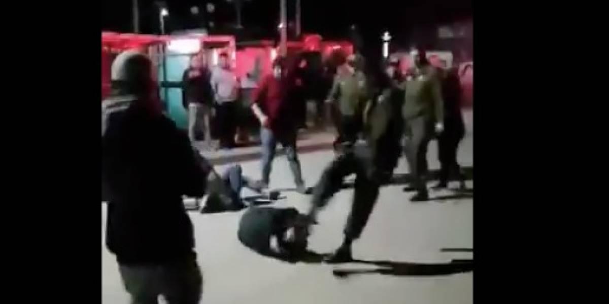 Fiscalía inicia investigación tras violento golpe de carabinero a un hombre en el Maule