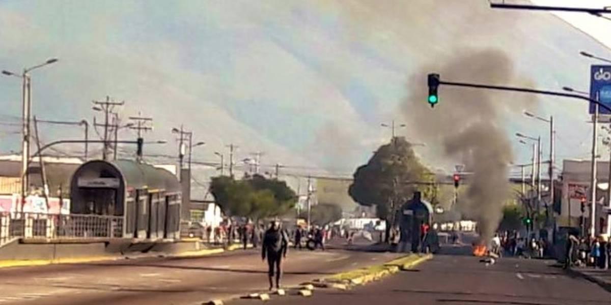 Paro nacional: Vías cerradas en Quito este 12 de octubre por protestas