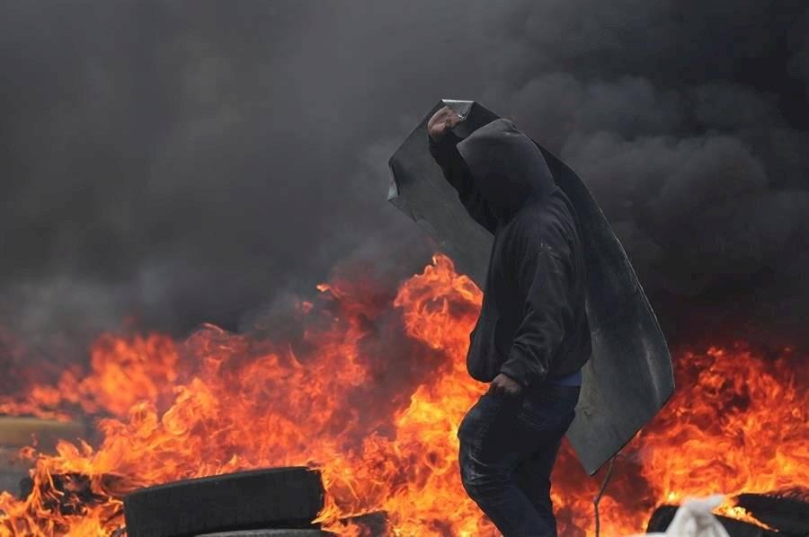 Los disturbios se concentraron esta vez en torno al parque El Arbolito EFE