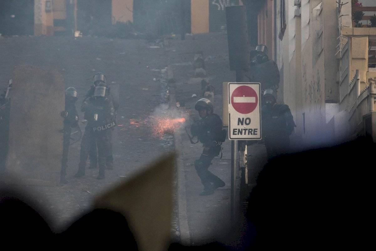 Enfrentamientos durante las manifestaciones en Ecuador