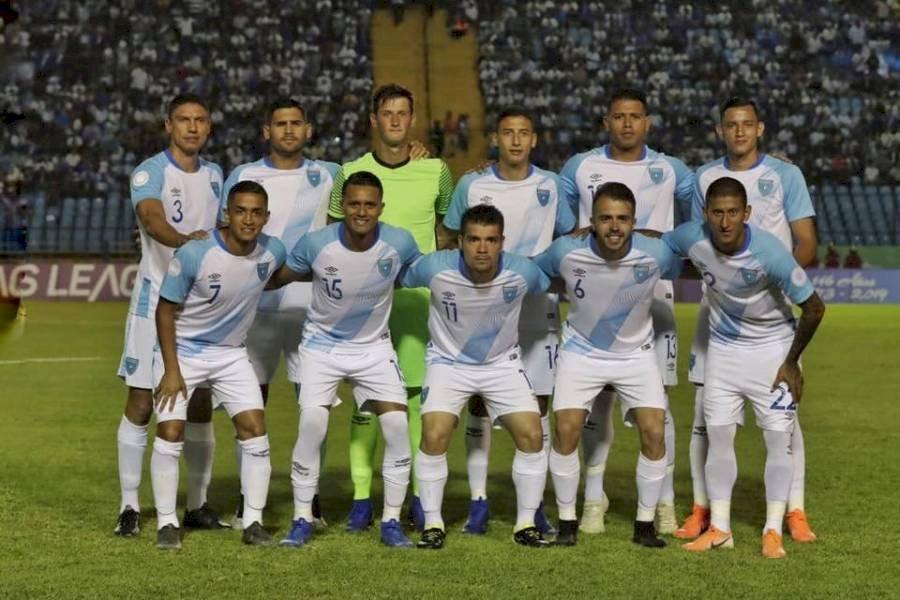 Selección de Guatemala en su visita a Anguila