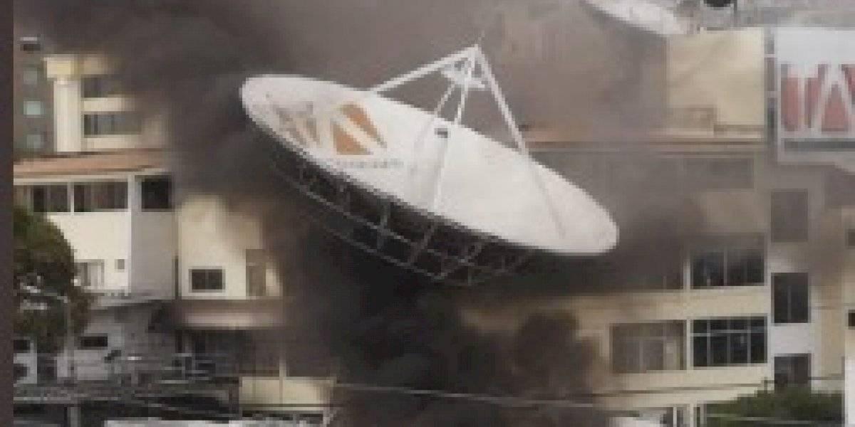 Atacaron las instalaciones del canal Teleamazonas, norte de Quito