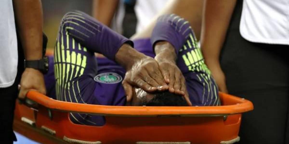 VIDEO. Así fue la escalofriante lesión del portero de Nigeria Francis Uzoho