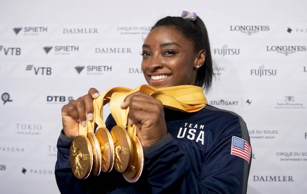 Simone Biles la más ganadora mundiales 2019