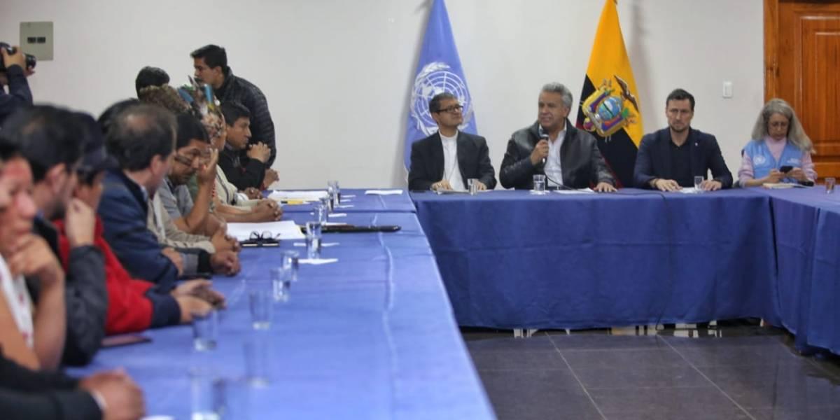 Gobierno y representantes del movimiento indígena llegan a un acuerdo