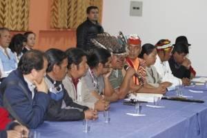 Representantes de los movimientos indígenas