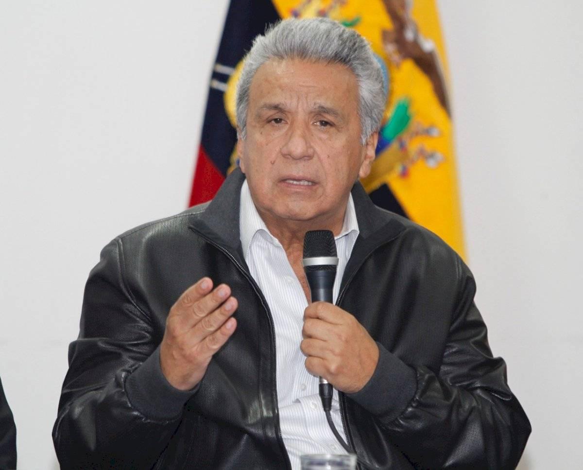 Lenín Moreno en el diálogo con los dirigentes de los movimientos indígenas