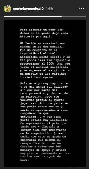 Cucho Hernández lesión
