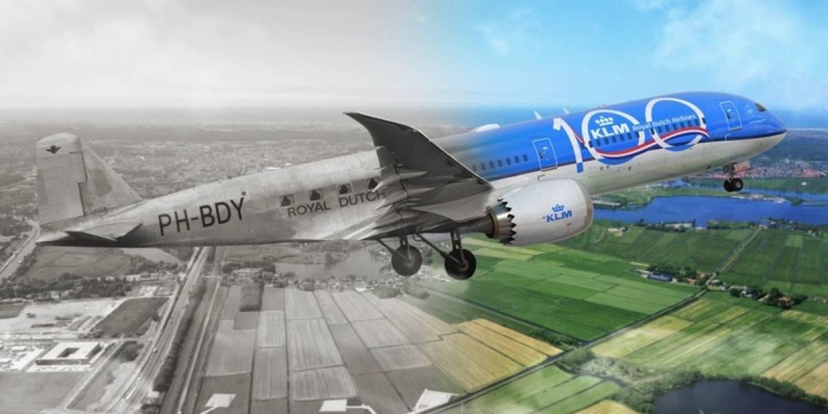 KLM cumple 100 años de operación