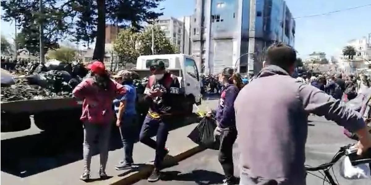 Estado de las vías y transporte público tras manifestaciones sociales en Quito