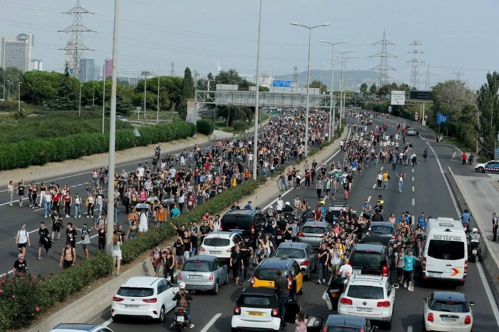 Protestas en Cataluña