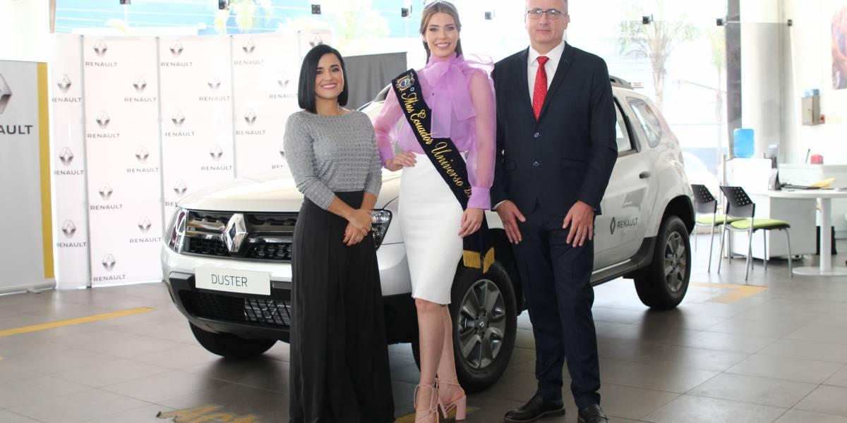 Miss Ecuador 2019 recibió un Renault Duster para su labor