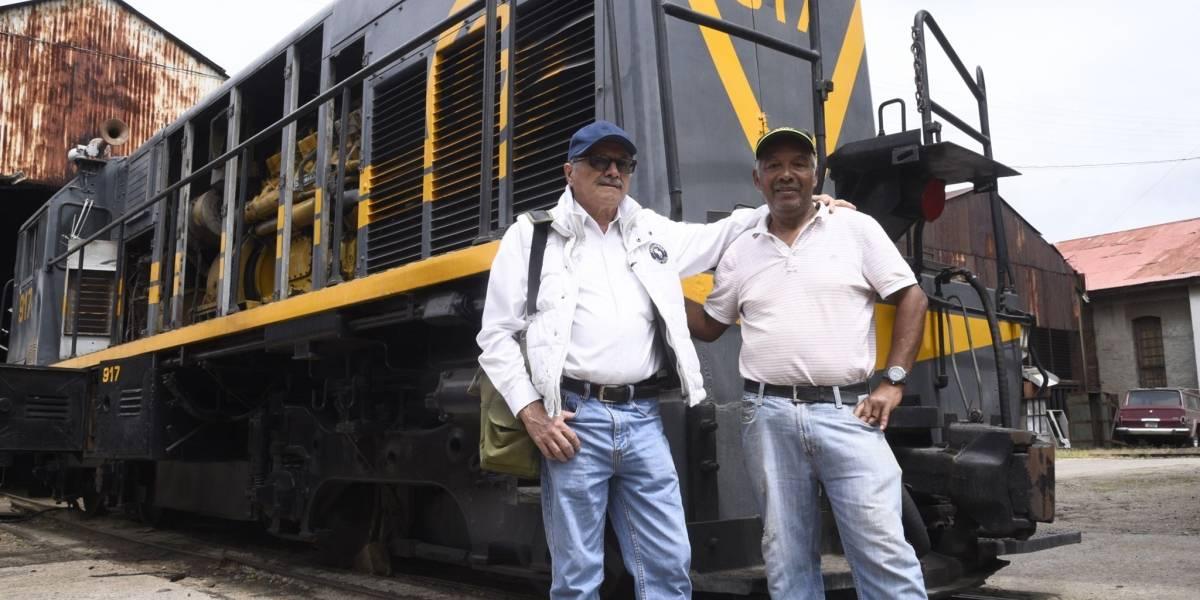 Ellos son los maquinistas que estarán a cargo del tren 917 que recorrerá la ciudad