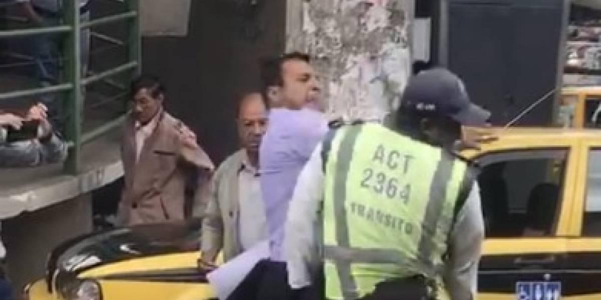 AMT se pronunció sobre video que muestra agresión a agente de tránsito