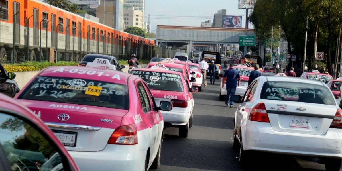 Taxistas amagan con nueva movilización el próximo lunes