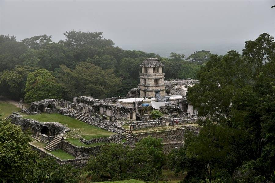 En el marco del proyecto, Google Arts and Culture produjo y envió una reproducción 3D del tamaño real de la escalera jeroglífica desde el Reino Unido a la ubicación original en el sitio del Patrimonio Mundial de las ruinas de Palenque EFE