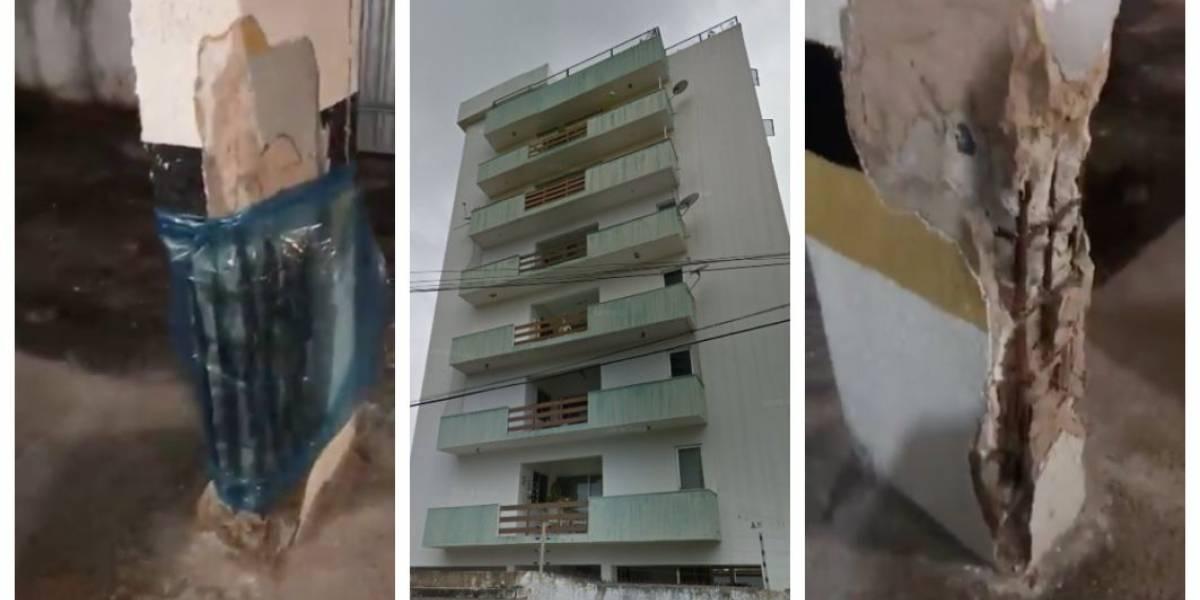 Vídeo mostra estrutura precária de edifício antes do desabamento em Fortaleza