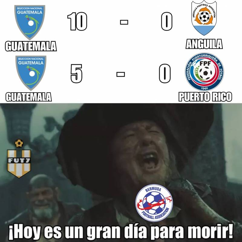 Memes Bermuda vs Guatemala