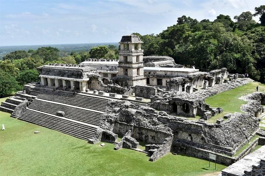 Vista general este martes de las ruinas de la ciudad de Palenque, en el estado de Chiapas EFE