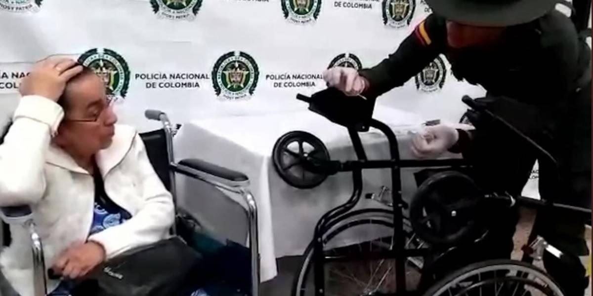 Detienen a mujer de 81 años con 3 kilos de cocaína en su silla de ruedas