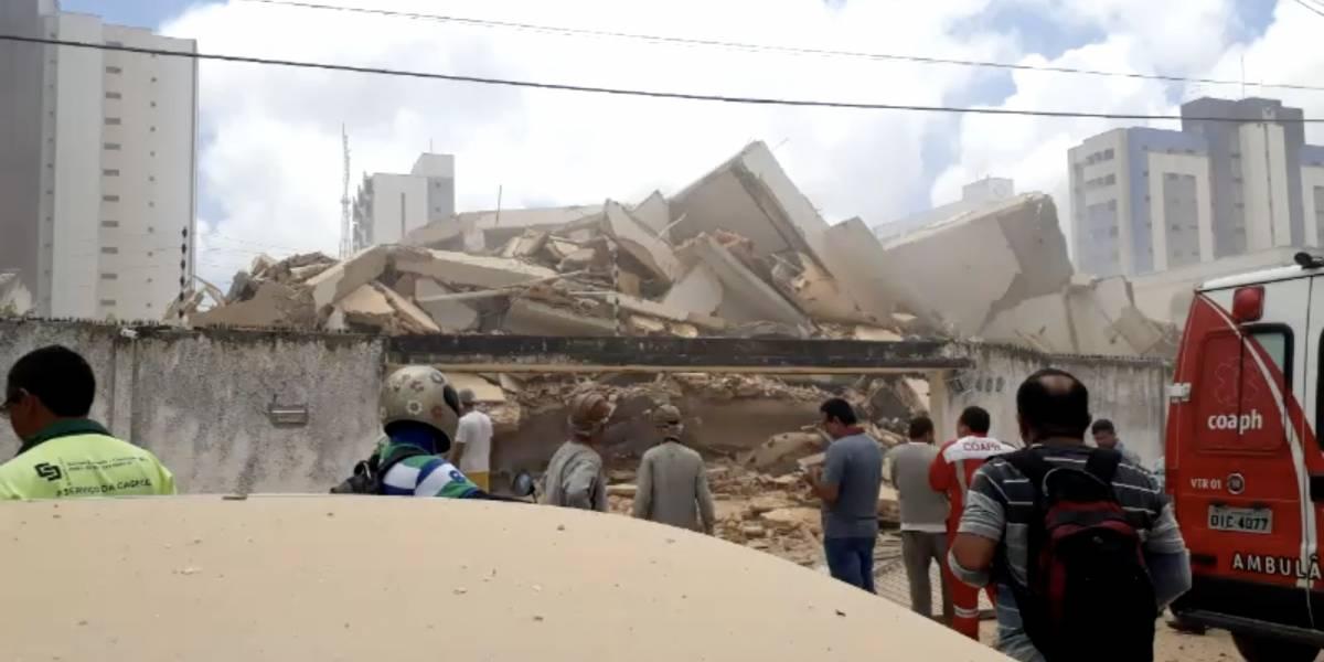 Bombeiros confirmam terceira morte em desabamento em Fortaleza
