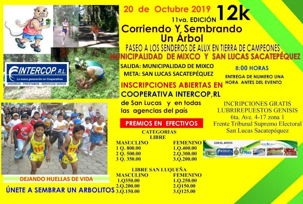 Detalles de la carrera de 12 kilómetros
