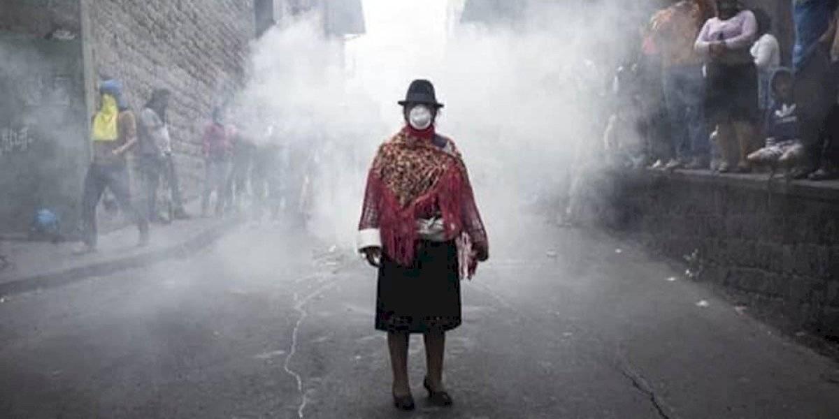 Paro en Ecuador: la historia detrás de una de las fotos más emblemáticas de las manifestaciones