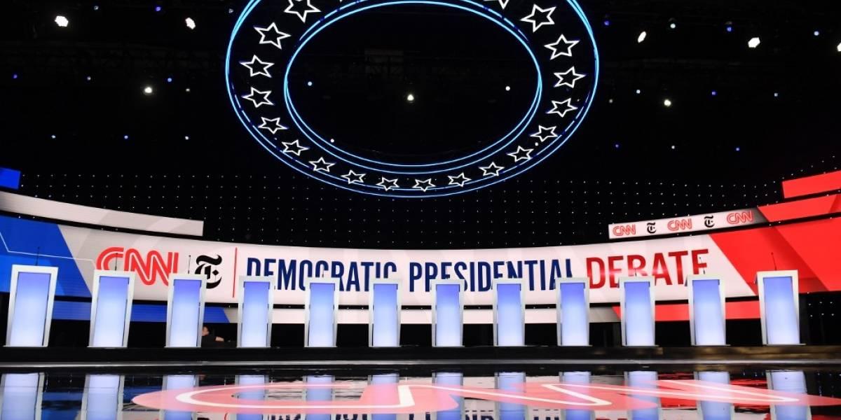 Demócratas celebran debate, eclipsado por investigación contra Trump