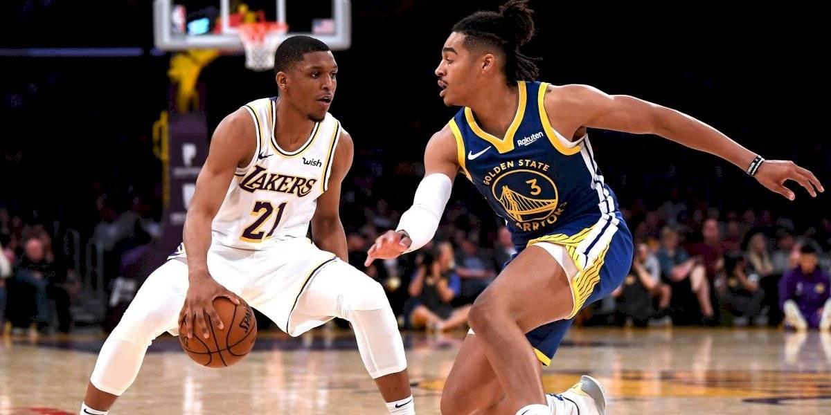 Sin LeBron ni Davis, Lakers se impone a Juan Toscano y los Warriors