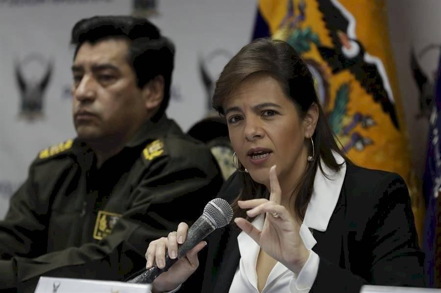 Ministra del Interior ecuatoriana entrega junto a comandantes balance de la ola de protestas