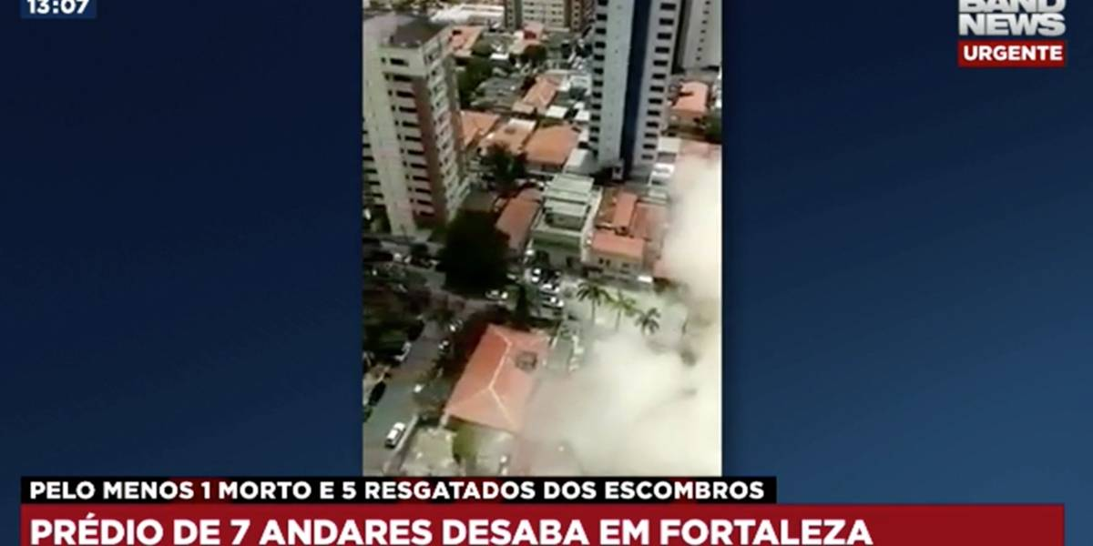Vídeo flagra momento do desabamento do prédio em Fortaleza