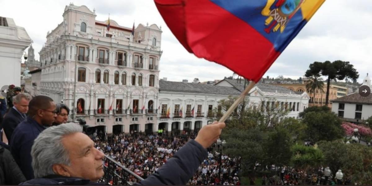 Finalizó paro nacional: El presidente Lenín Moreno regresó al Palacio de Carondelet