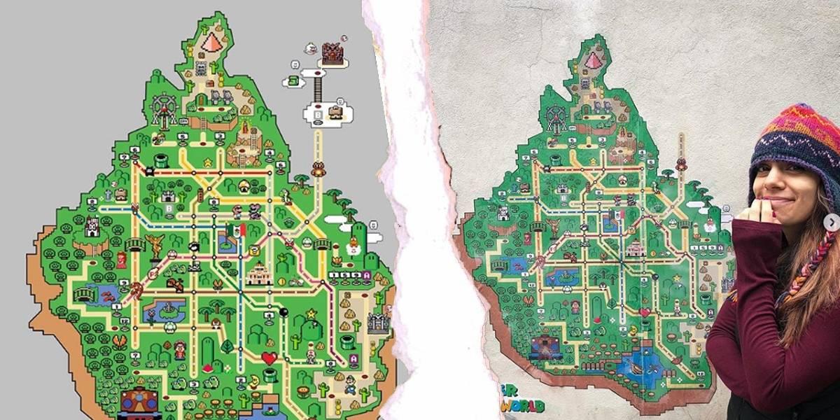 Diseñan mapa del metro como un mundo de Super Mario World y se hace viral