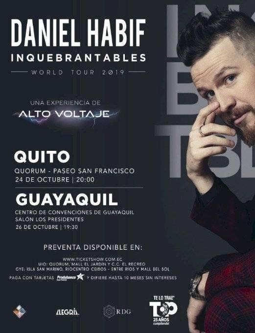 Daniel Habif regresa a Ecuador con una experiencia de Alto Voltaje