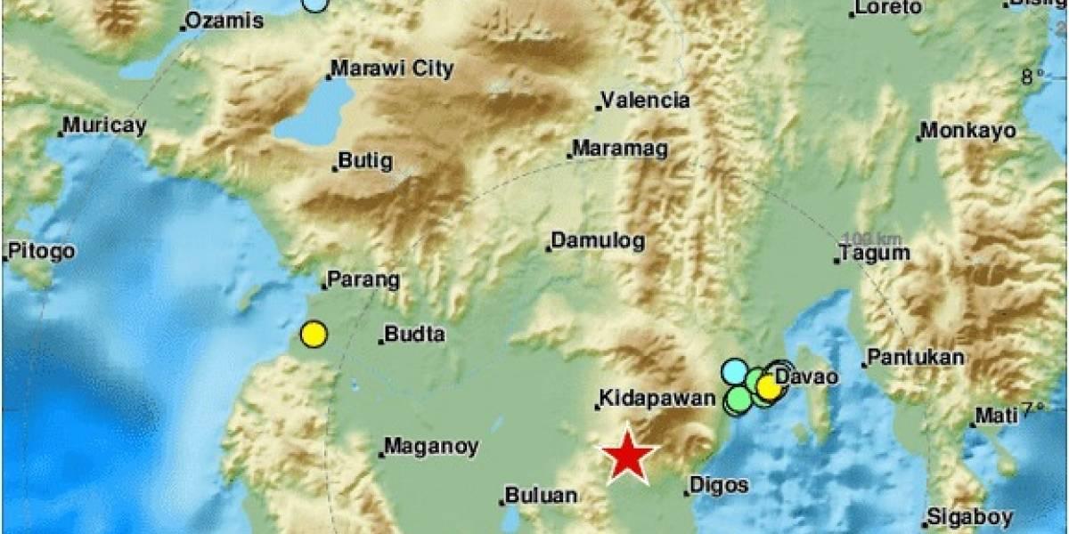 Terremoto de magnitud 6.4 sacude a Filipinas