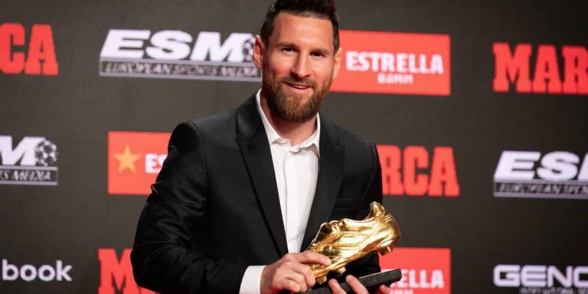 Messi recibe su sexta Bota de Oro a 15 años de su debut con el Barça