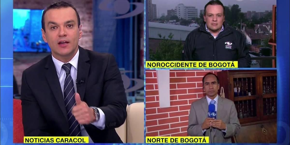 La burla del 'Ojo de la noche' a Juan Diego Alvira en plena emisión de 'Noticias Caracol'