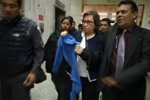 Sandra Torres en audiencia de primera declaración por caso UNE