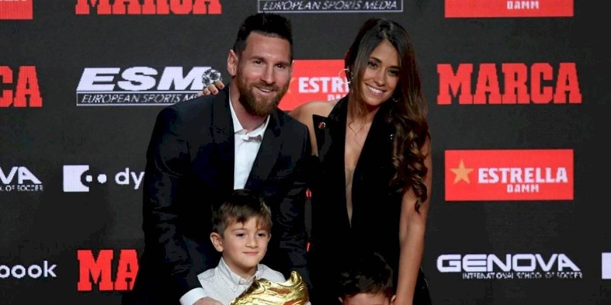 Antonela Roccuzzo enamora con su linda selfie en el día de premiación de Messi